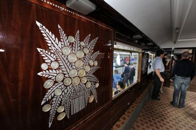 Joyau de la période Art Déco, l'Orient Express... (Photo MEHDI FEDOUACH, AFP)