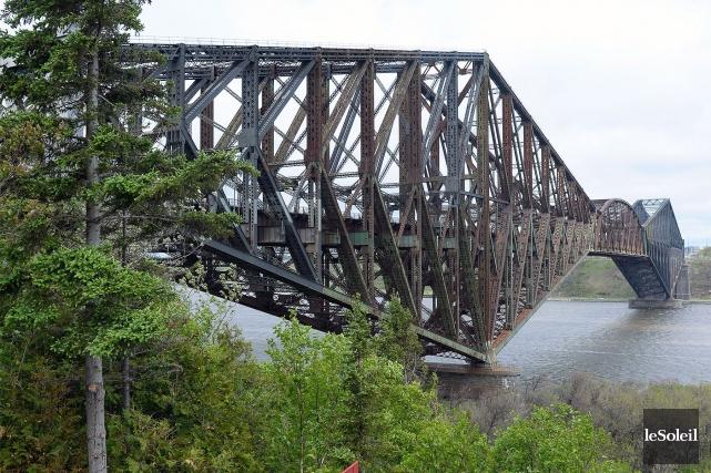 Le pont de Québec... (Photothèque Le Soleil, Erick Labbé)