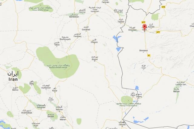 L'accident s'est produit sur une autoroute qui relie... (Image tirée de Google Maps)