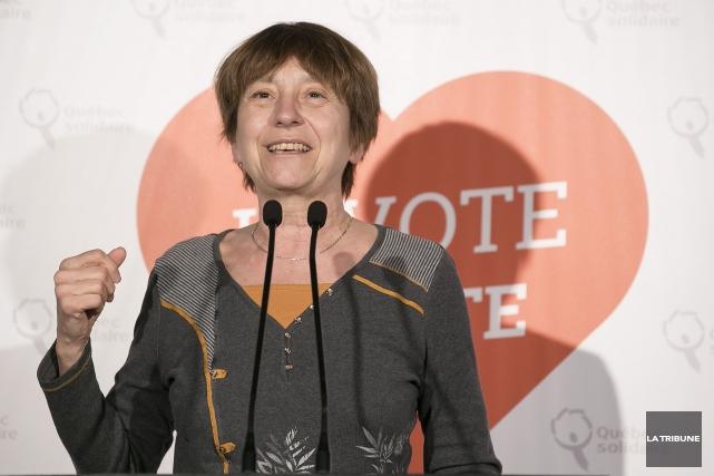 La porte-parole parlementaire de QS, Françoise David.... (Archives La Tribune, Jocelyn Riendeau)