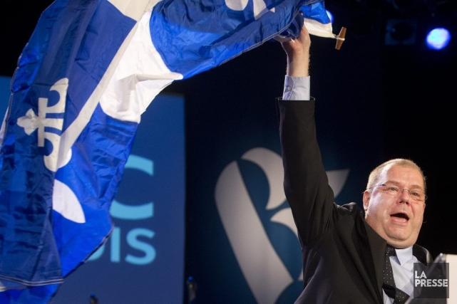 Le chef du Bloc québécois, Mario Beaulieu, fait... (PHOTO ROBERT SKINNER, ARCHIVES LA PRESSE)