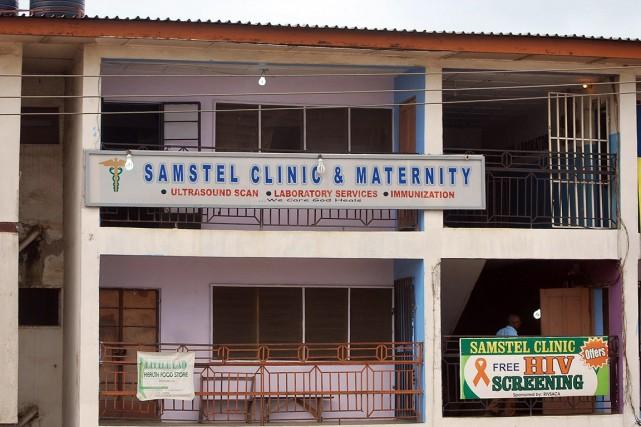 La clinique dumédecin tué par le virus, et... (PHOTO AGENCE FRANCE PRESSE)