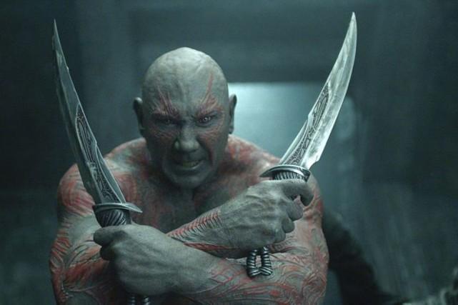 Dave Bautista dans Guardians of the Galaxy.... (PHOTO FOURNIE PAR MARVEL)