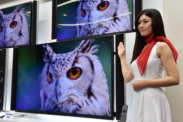 Les nouvelles télévisions 4K (quatre fois la haute... (Photo YOSHIKAZU TSUNO, AFP)