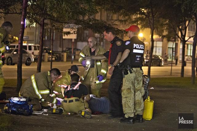 Un homme et un adolescent ont été blessés lors d'agressions armées survenues en... (Photo Félix O.J. Fournier, Collaboration spéciale)