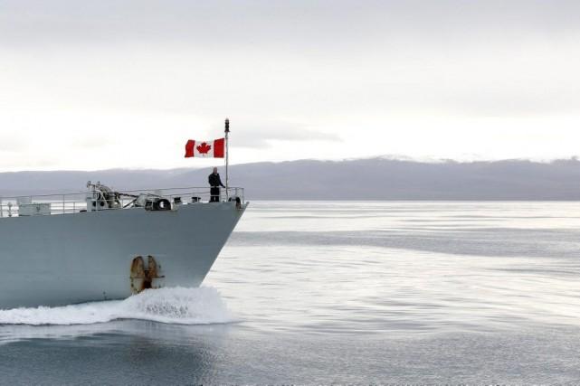Le premier ministre Stephen Harper, lors de sa... (PHOTO CHRIS WATTIE, REUTERS)