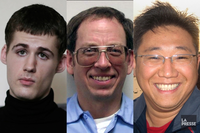 Matthew Miller, Jeffrey Fowle et Kenneth Bae ont accordé une... (PHOTOMONTAGE LA PRESSE)