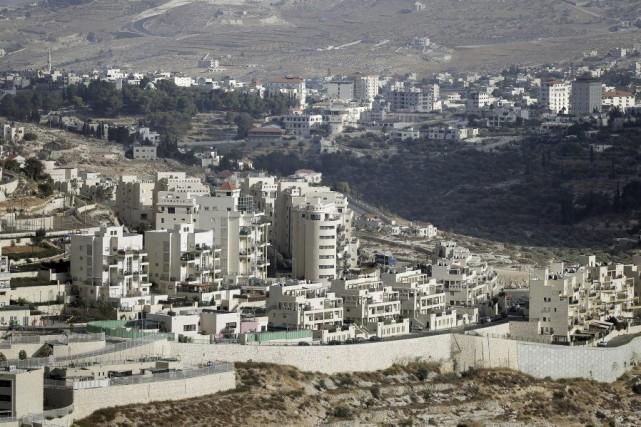 La colonie de Har Homa a été installée... (PHOTO AHMAD GHARABLI, AFP)