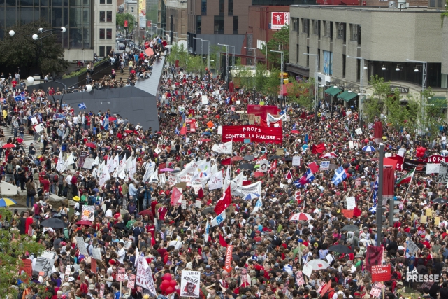 En 2012, de nombreux Québécois ont participé à... (Photo Robert Skinner, archives La Presse)