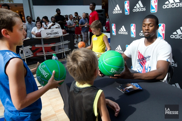 Harrison Barnes, des Warriors de Golden State, a... (Photo Robert Skinner, La Presse)