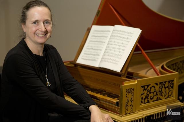 Isolde Lagacé à son clavecin. Bach n'est pas... (Photo: David Boily, La Presse)
