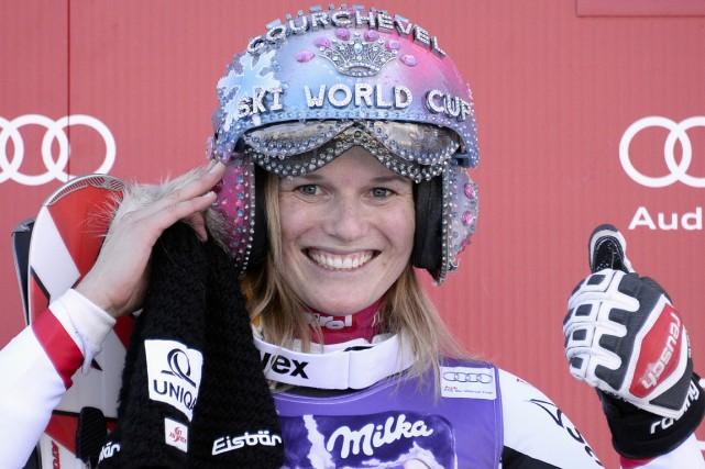 La skieuse autrichienne Marlies Schild a remporté 35... (Photo Franck Fife, AFP)