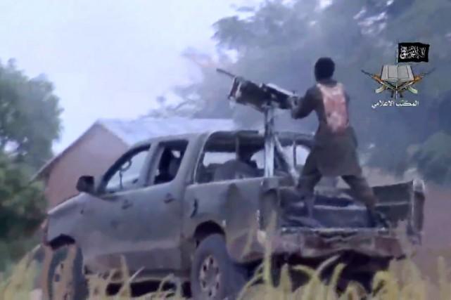 La rébellion armée de Boko Haram qui dure... (IMAGE ARCHIVES AFP/BOKO HARAM)