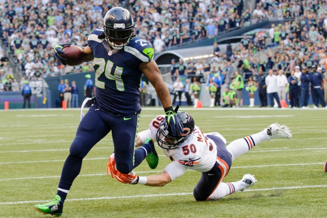 Marshawn Lynch... (Photo Steven Bisig, USA Today)