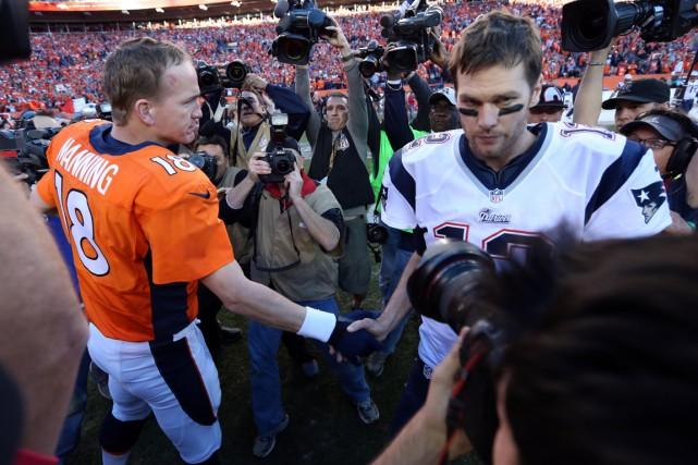 Peyton Manning (Broncos) et Tom Brady (Patriots) pourraient... (Photo Matthew Emmons, USA Today)