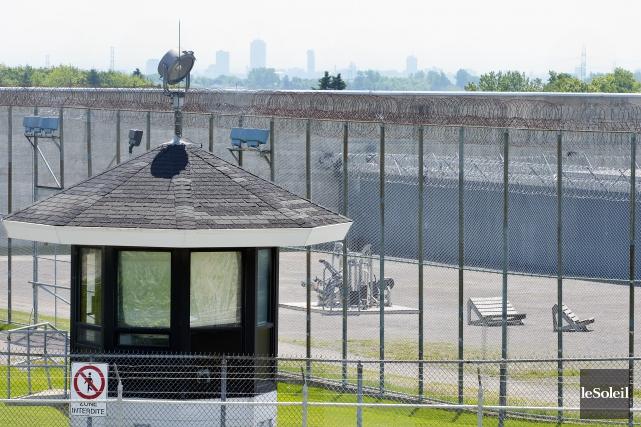 La cour de la prison d'Orsainville... (Photothèque Le Soleil, Jean-Marie Villeneuve)