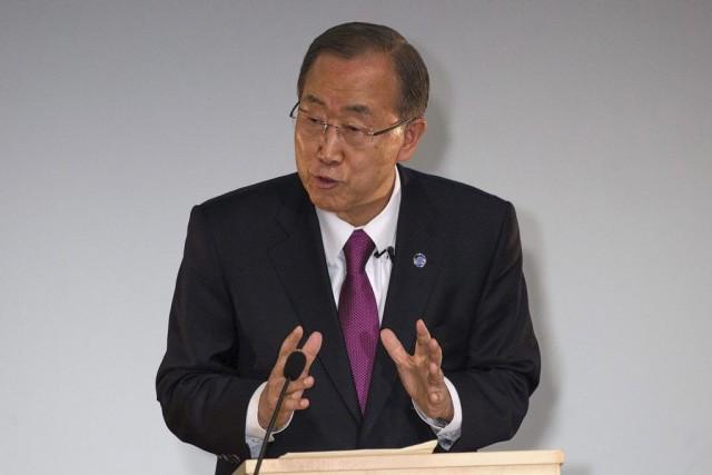 Ban Ki-moon... (Photo: AFP)