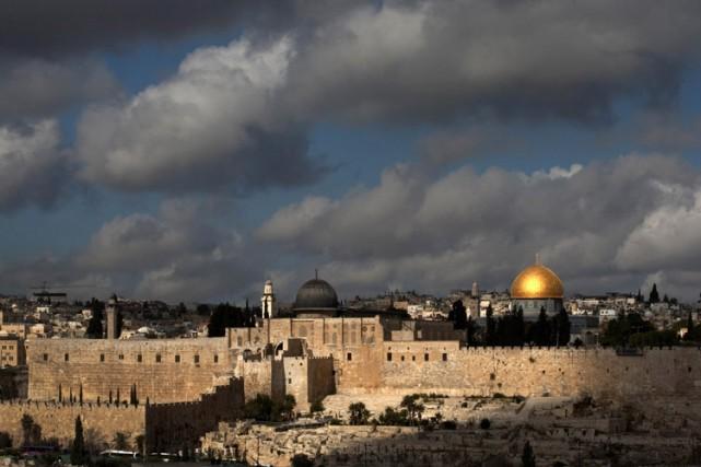 L'esplanade des Mosquées à Jérusalemabrite le troisième lieu... (Archives AFP)