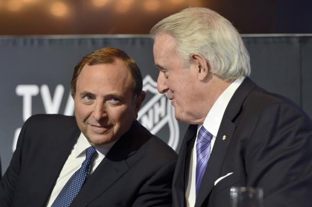 Gary Bettman a discuté avec l'ancien premier ministre... (Photo: PC)