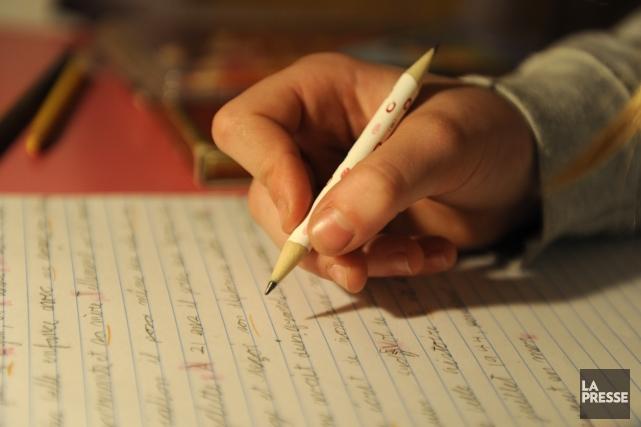 L'impact des devoirs est négligeable au primaire.... (Photo Bernard Brault, archives La Presse)