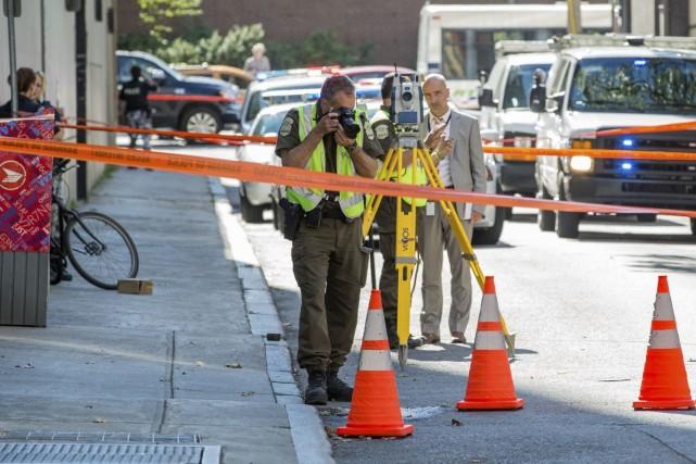 Les enquêteurs de la Sûreté du Québec ont... (PHOTO STEVE JOLICOEUR, COLLABORATION SPÉCIALE)