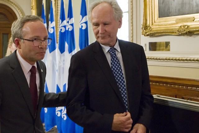 Le président du Conseil du Trésor, Martin Coiteux,... (La Presse Canadienne)