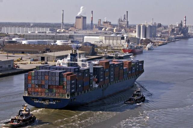 Le solde chroniquement déficitaire des échanges des États-Unis... (PHOTO STEPHEN MORTON, BLOOMBERG)