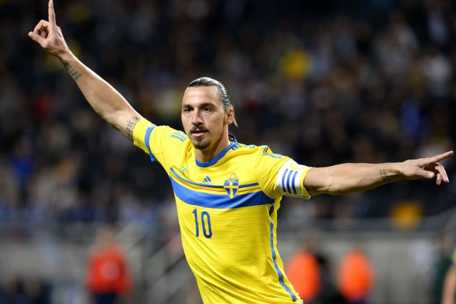 Zlatan Ibrahimovic... (Photo Jonathan Nackstrand, AFP)
