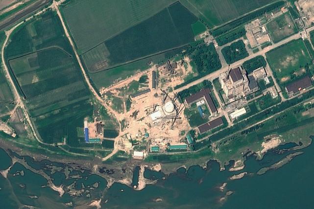 Le réacteur Yongbyon, le seul dont dispose le... (PHOTO IMAGE ARCHIVES AFP)