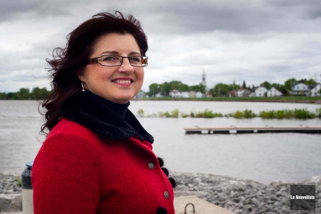 La mairesse de Batiscan, Sonya Auclair.... (Photo: Sylvain Mayer Le Nouvelliste)