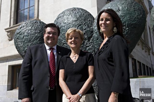 Le maire de Montréal Denis Coderre, avec Francine... (Photo: Patrick Sanfaçon, La Presse)