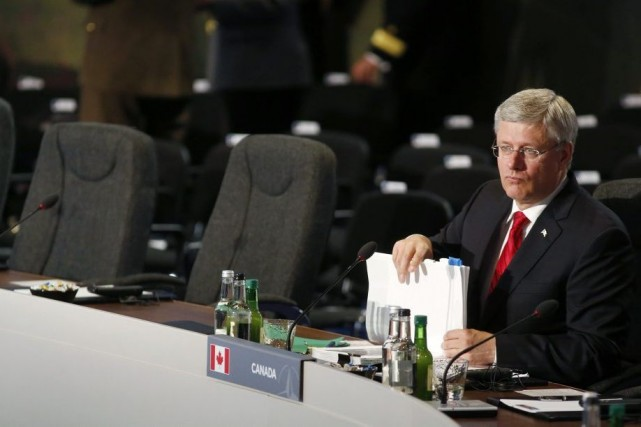 Le premier ministre Stephen Harper... (PHOTO LARRY DOWNING, REUTERS)