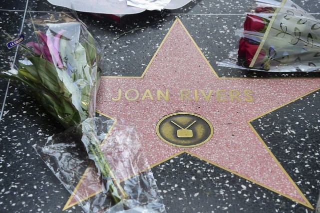 Personne n'était à l'abri de l'humour grinçant de Joan Rivers, pas même Mila... (Photo: AFP)