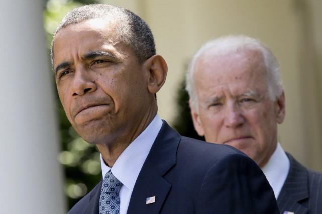 Le président américain Barack Obama en compagnie de... (PHOTO JACQUELYN MARTIN, ARCHIVES AP)