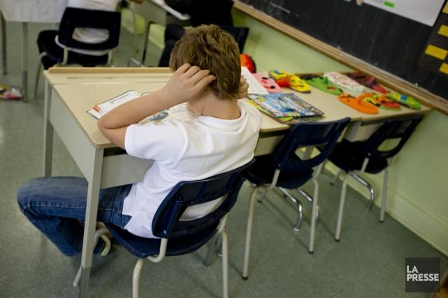 En France, les élèves du primaire viennent de... (Photo David Boily, archives La Presse)