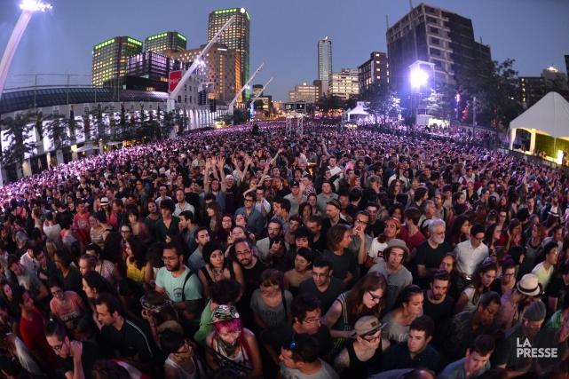 La place des Festivals a rempli sa mission... (Photo Bernard Brault, La Presse)
