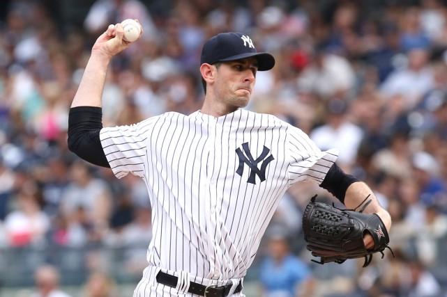 Brandon McCarthy des Yankees de New York... (Photo Bill Streicher, USA TODAY Sports)