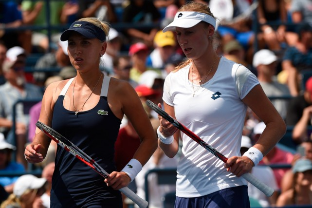 Ekaterina Makarova and Elena Vesnina... (PHOTO TIMOTHY A. CLARY, ARCHIVES FRANCE-PRESSE)