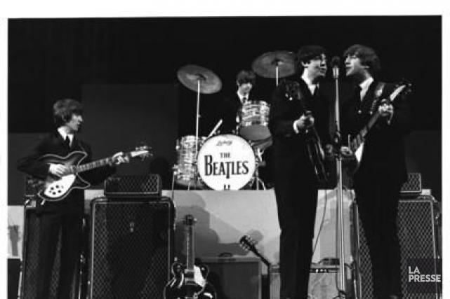 Cette photo originale des Beatles a été prise... (PHOTO ANTOINE DÉSILET, ARCHIVES LA PRESSE)
