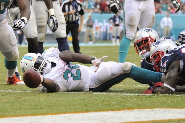 Knowshon Moreno a connu un autre match impressionnant face aux Patriots de la... (Photo: Reuters)