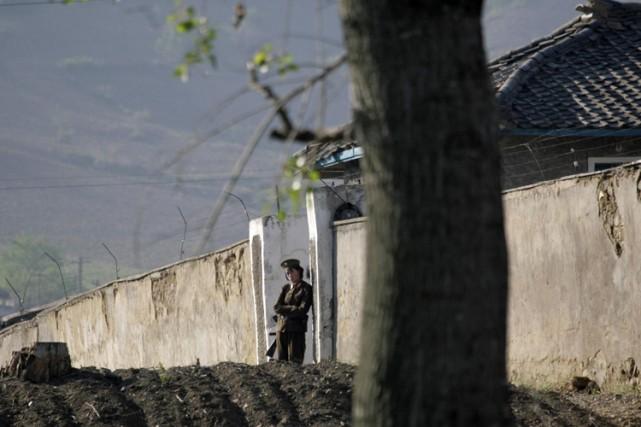 Une prison nord-coréenne, près de la frontière avec... (Archives Reuters)