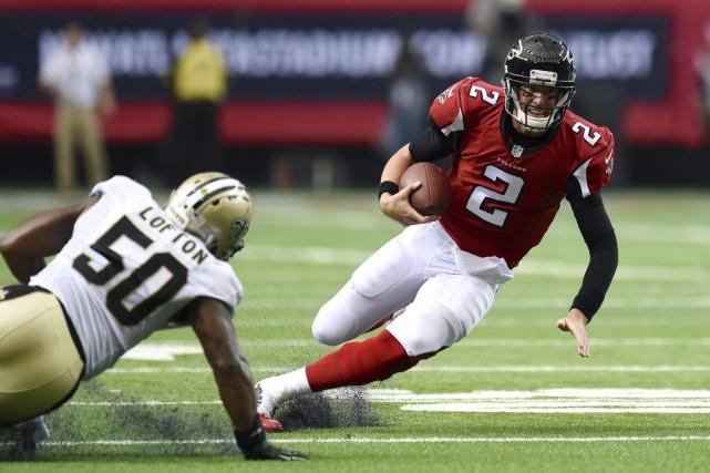 Matt Ryan a connu plusieurs matchs impressionnants avec les Falcons d'Atlanta.... (Photo: Reuters)
