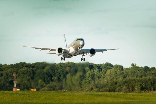 L'avion d'essai numéro deux, surnommé FTV2.... (Photo fournie par Bombardier)