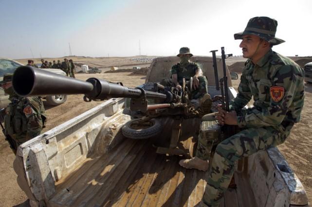 Des soldatsde la force de sécurité kurde en... (Photo: PC)