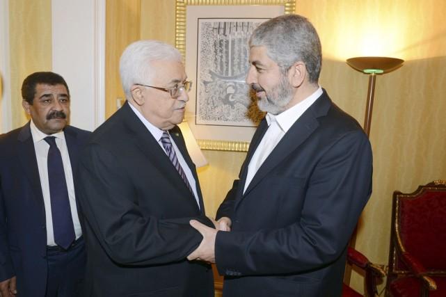 Le président de l'Autorité palestinienne Mahmoud Abbas (à... (PHOTO THAER GHANAIM, ARCHIVES REUTERS)