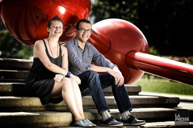 Noémie Letu et Yasser Fadili, deux artistes visuels... (Photo: Bernard Brault, La Presse)