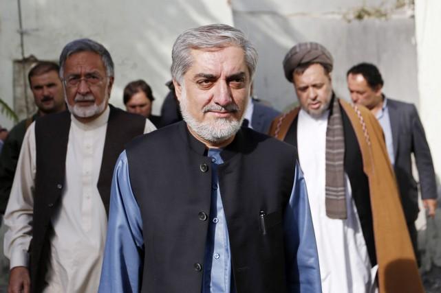 Les nouvelles déclarations d'Abdullah Abdullah interviennent alors qu'un... (PHOTO MOHAMMAD ISMAIL, REUTERS)