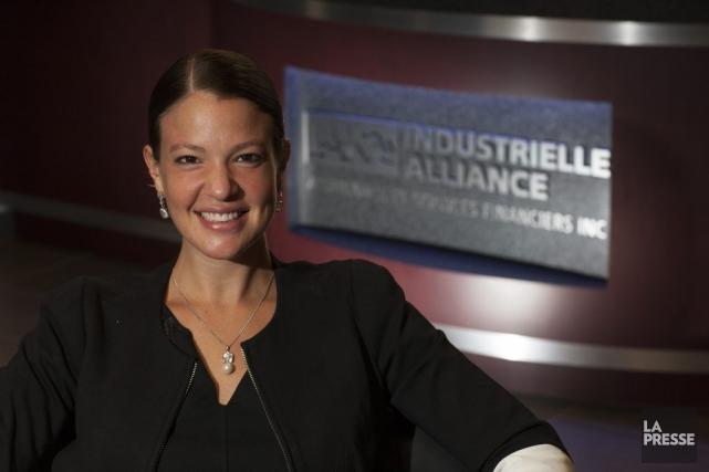 Ève Lamoureux est conseillère en sécurité financière pour... (PHOTO ANDRÉ PICHETTE, LA PRESSE)