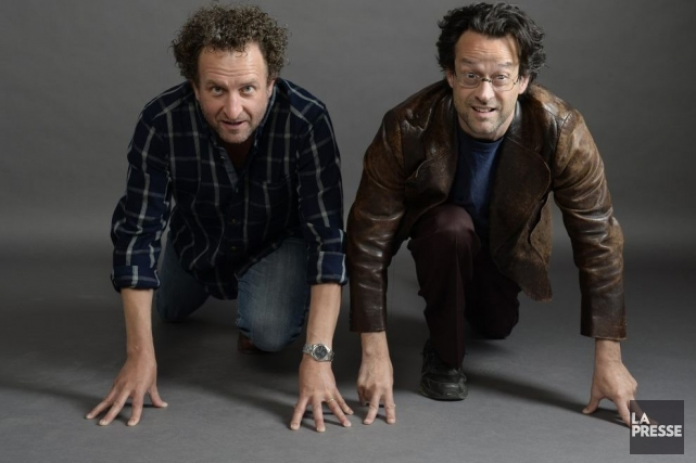 Daniel Brière et Alexis Martin... (Photo: Bernard Brault, La Presse)
