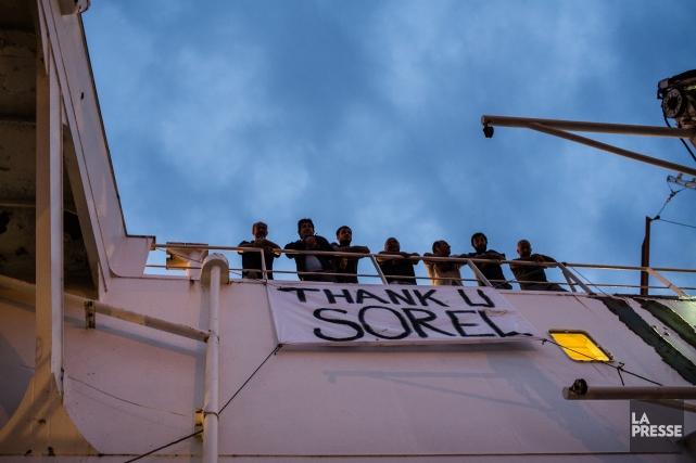 Les douze marins turcs qui sont à bord... (Photo Édouard Plante-Fréchette, La Presse)